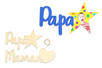 Suspensions Papa et Maman en bois - Cadres photos – 10doigts.fr