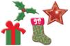 Motifs de Noël en bois décoré - Set de 8 - Motifs peint - 10doigts.fr