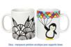 Mug en porcelaine blanche - Déco de la maison – 10doigts.fr