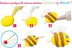 Stylos de peinture acrylique 3D couleurs vives - Set de 6 - Stylos peinture 3D – 10doigts.fr