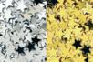 Paillettes étoiles or et argent - Lot de 8000 paillettes - Paillettes fantaisie - 10doigts.fr