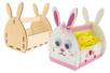 Panier lapin en bois à monter - Supports de Pâques à décorer – 10doigts.fr