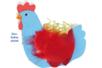 Corbeilles poules - Set de 6 - Kits activités Pâques – 10doigts.fr