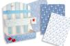Papiers à encoller camaieu bleu - 3 feuilles - Papiers Vernis-collage – 10doigts.fr