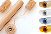 Rouleau papier kraft 60 gr- Couleurs au choix - Papier kraft - 10doigts.fr