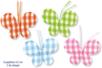 Papillons en tissu molletonné vichy - 8 pièces - Motifs en tissu molletonné – 10doigts.fr
