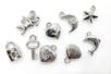 Perles charm's en plastique argenté - Perles intercalaires & charm's – 10doigts.fr