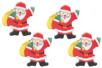 Pères Noël en bois décoré - Set de 12 - Motifs peint - 10doigts.fr