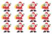 Pères Noël en bois décoré - Set de 12 - Motifs peint – 10doigts.fr