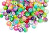 Perles arc-en-ciel en verre - 100 perles - Perles en verre – 10doigts.fr