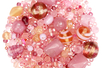 Perles artisanales en verre - camaïeux de roses - Perles en verre – 10doigts.fr