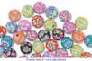 Shamballas... avec des perles en pâte polymère millefioris - Bijoux Shamballas – 10doigts.fr