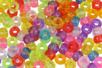 Perles translucides rondes à gros trou - 160 perles - Perles en plastique - 10doigts.fr
