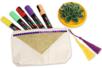 Pochette à bijoux en coton naturel avec fermeture zippée - Supports textile – 10doigts.fr