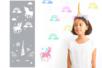 Pochoir motifs licorne et arc-en-ciel - 15 x 40 cm - Pochoirs frises – 10doigts.fr