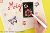"Pochoir auto-adhésif repositionnable ""Hibiscus"" - Pochoirs Adhésifs – 10doigts.fr"