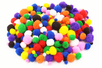 Pompons couleurs vives et tailles assorties - Pompons - 10doigts.fr