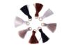 Mini pompons naturels sur anneaux - 8 pièces - Perles intercalaires & charm's – 10doigts.fr