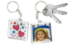 Porte-clefs en plastique transparent à personnaliser - Transparent – 10doigts.fr