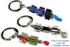 Porte-clefs ou mousqueton de perles bayadères en verre - Bijoux – 10doigts.fr