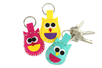 Porte-clés hiboux en feutrine - Set de 6 - Kits Mercerie – 10doigts.fr