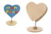 Clip mémo coeur en bois - Cadres photos – 10doigts.fr