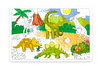 Grand  Puzzle Dinosaures à colorier - Coloriages – 10doigts.fr