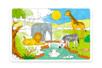 Grand Puzzle Savane à colorier - Puzzle à colorier, dessiner ou peindre – 10doigts.fr