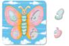 Puzzle en carton blanc à colorier, avec fond : PAPILLON - Puzzles à colorier, dessiner ou peindre – 10doigts.fr