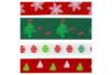 Rubans de Noël - Set de 4 - Rubans et ficelles - 10doigts.fr