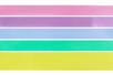 Rubans couleurs pastel - Set de 5 - Rubans et ficelles - 10doigts.fr