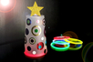 Sapin lumineux avec un gobelet en plastique - Noël – 10doigts.fr