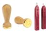 Sceau coeur + 2 bâtons de cire - Tampons classiques – 10doigts.fr