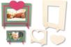 Set de 2 cadres rectangulaires, en bois naturel à décorer - Cadres, tableaux – 10doigts.fr