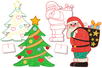 Coloriages de Noël à poser - Set de 2 - Support pré-dessiné – 10doigts.fr