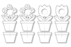 Cadres photo fleurs à colorier - Set de 4 - Support pré-dessiné – 10doigts.fr
