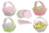 Paniers fleuris - Set de 6 - Kits activités Pâques - 10doigts.fr