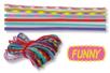 """Jeu de ficelle - 6 cordes couleurs """"FUNNY"""" - Jeu de ficelle – 10doigts.fr"""