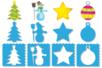 Pochoirs NOËL 3 en 1 - Set de 8 - Pochoirs fêtes – 10doigts.fr