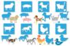 Pochoirs ANIMAUX 3 en 1 - Set de 8 Modèles - Pochoirs Animaux – 10doigts.fr