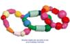 Perles en bois en camaïeu de rouge - 110 perles - Perles en bois – 10doigts.fr