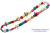 Perles en bois en camaïeu de vert - 110 perles - Perles en bois – 10doigts.fr