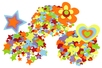 Stickers en feutrine - étoiles, coeurs, fleurs - Set de 150 - Stickers en feutrine – 10doigts.fr