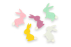 Stickers lapins en feutrine - Set de 24 - Stickers de fêtes – 10doigts.fr