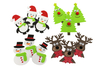 Stickers de Noël en caoutchouc souple - Set de 12 stickers - Formes en Mousse autocollante - 10doigts.fr