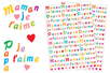 """Stickers lettres """"Maman, Papa""""- 518 stickers - Bullet Journal, Planner - 10doigts.fr"""