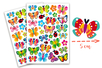 Gommettes papillons - 2 planches - Gommettes Animaux – 10doigts.fr