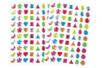 Strass adhésifs couleurs acidulées - 140 strass - Stickers strass, cabochons - 10doigts.fr