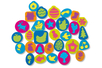 Tampons en caoutchouc mousse multi thèmes - Set de 102 - Tampon dessin – 10doigts.fr