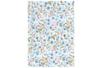 Tissu adhésif fleuri bleu et rose - Tissus adhésifs – 10doigts.fr